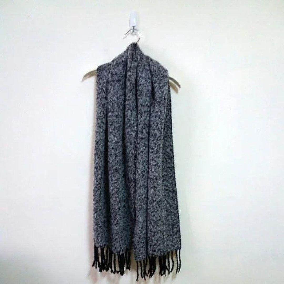 NET 保暖厚實混色針織圍巾