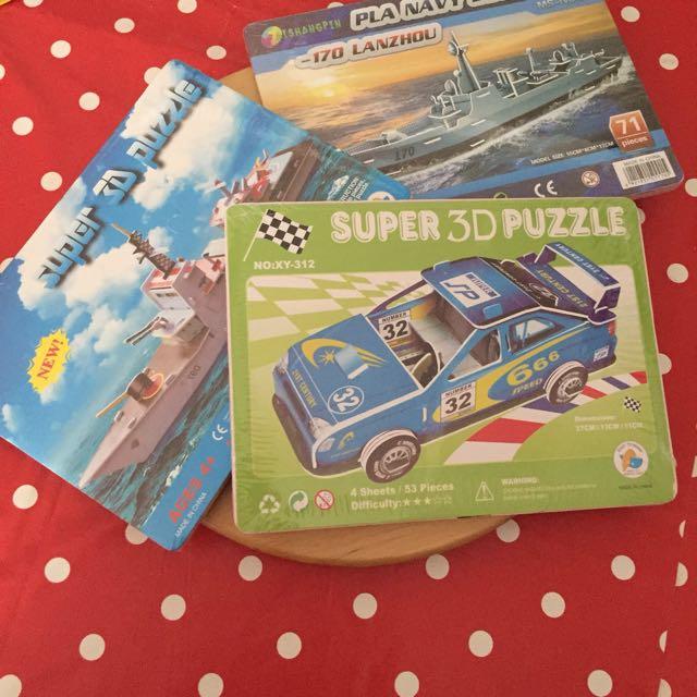 NEW 3D puzzle car boat