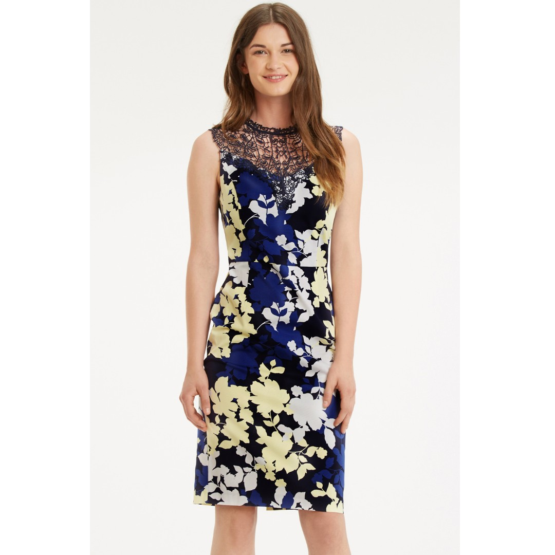 b8f6d6684588 3 for RM150) New BNWT Oasis Floral Lace Pencil Dress, Fesyen Wanita ...
