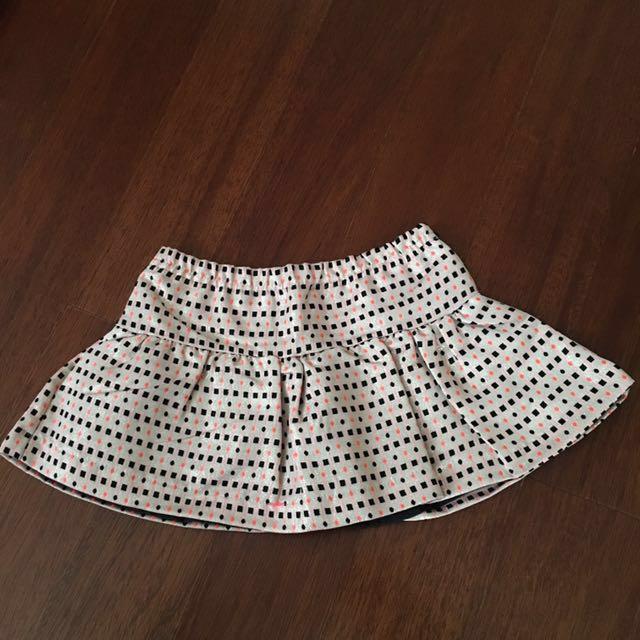 NEW! Kardashian kids pink jacquard skirt sz 24bln