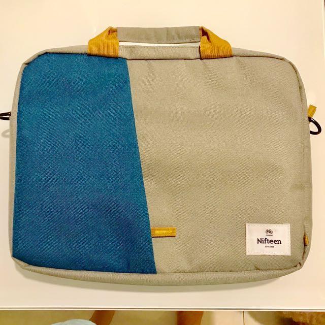 """fe9d3d4cb4f1 Nifteen Manhattan Laptop Bag 13"""" Blue (Preloved - less than 2 months ..."""