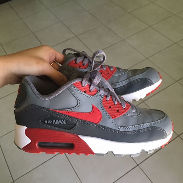 Nike air max red and grey