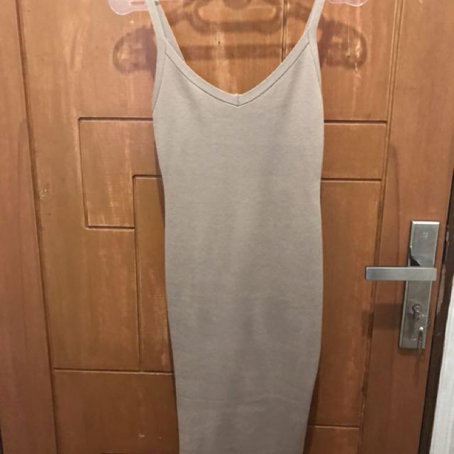 Nude tank dress