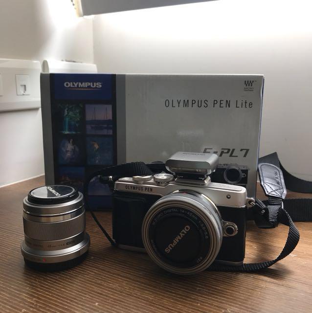 OLYMPUS PEN Lite E-PL7 全套 ($13000)+ 45mm 鏡頭 ($5000)