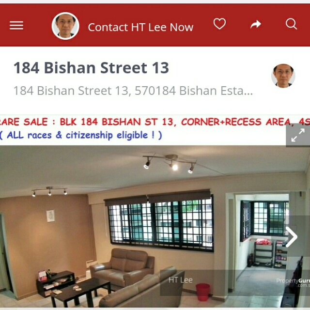 Open for all race! - Bishan st 13 blk 184 for sale