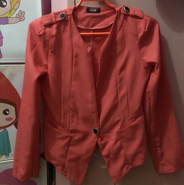 Orange formal blazer