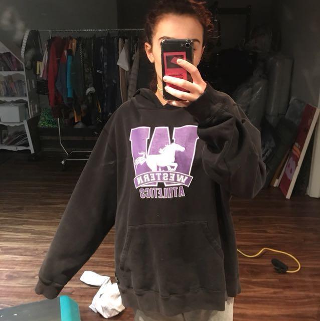 Oversized western sweatshirt