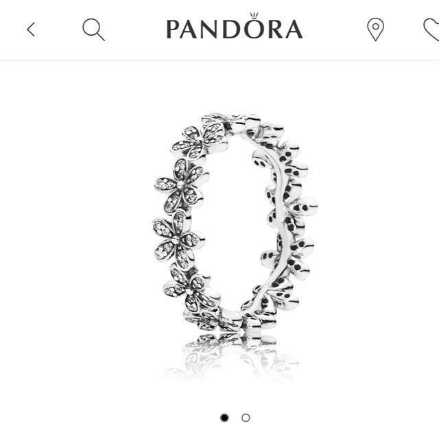 Pandora 潘朵拉 Dazzling Daisy band Ring 戒指