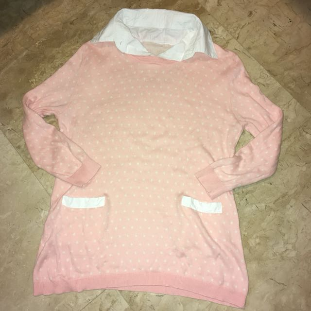 Pink Polka Sweater