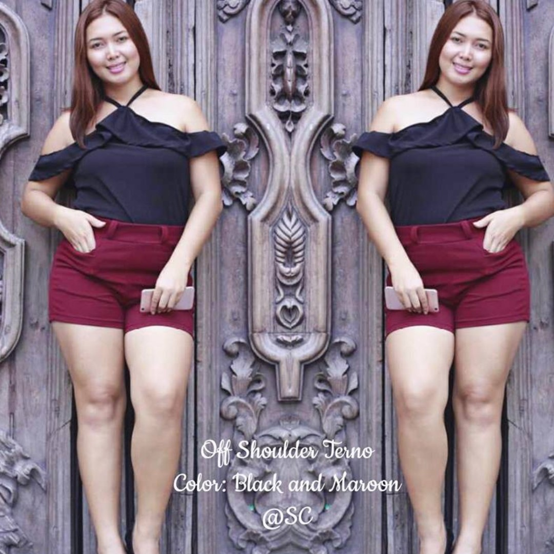 PLUS SIZE TERNO BLOUSE AND SHORT