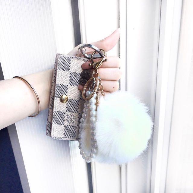 Pom Pom keychains! Many styles and colours