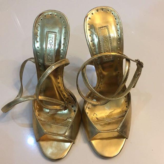 Preloved Shoes Topshop Gold