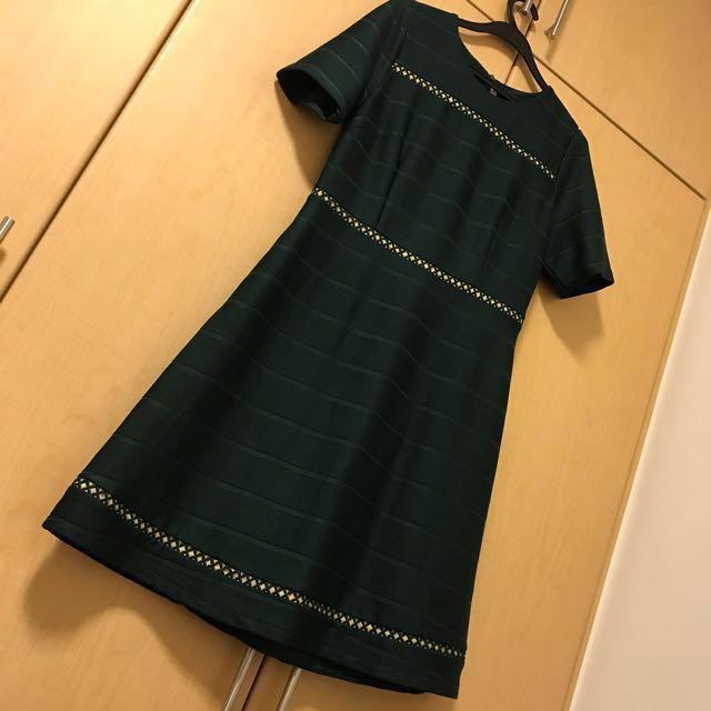 75e89cd2f3 ⬇︎PRICE REDUCED⬇  ✨Dark Green Dress - can be maternity dress ...