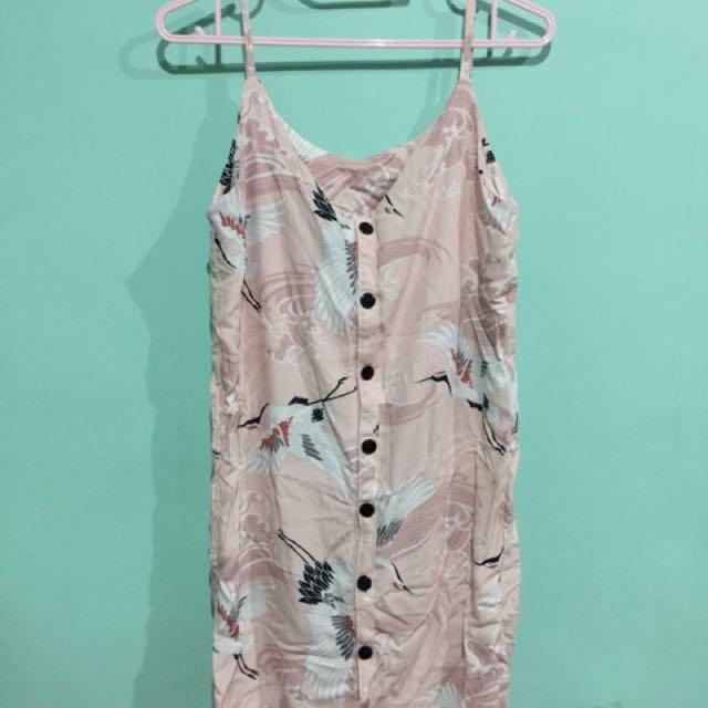 Printed cami string dress