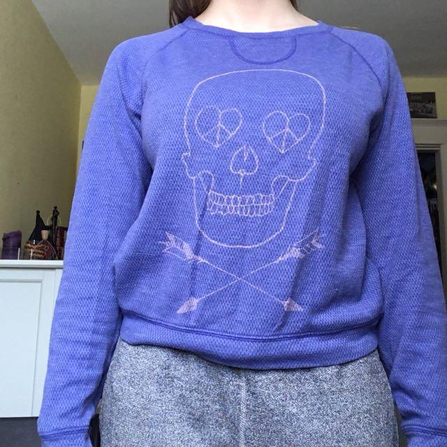Purple Skull sweater