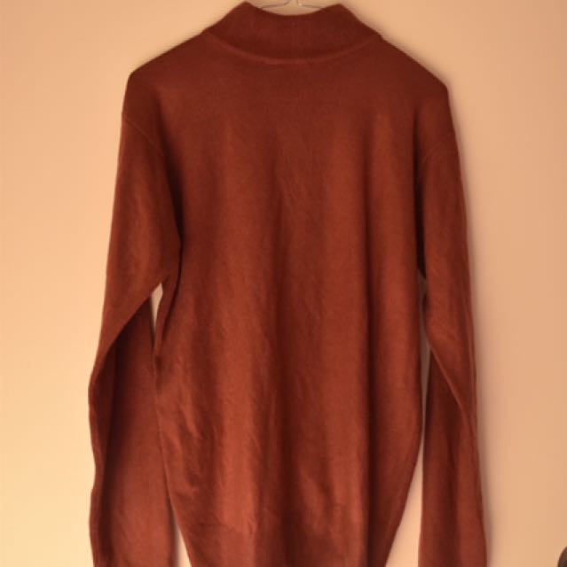 Red Mock Neck Knit