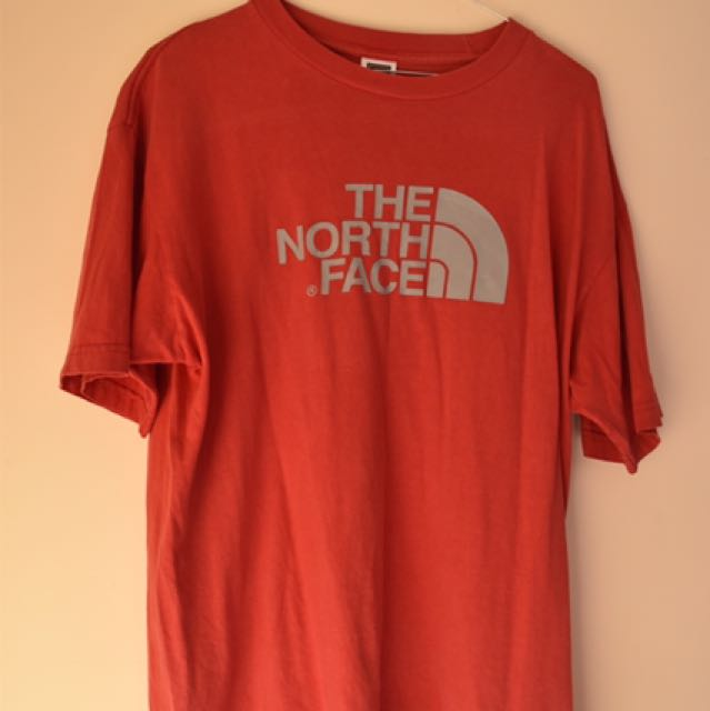 Red North Face T Shirt