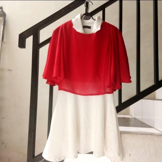 Red white dress bundling gong xi fat cai