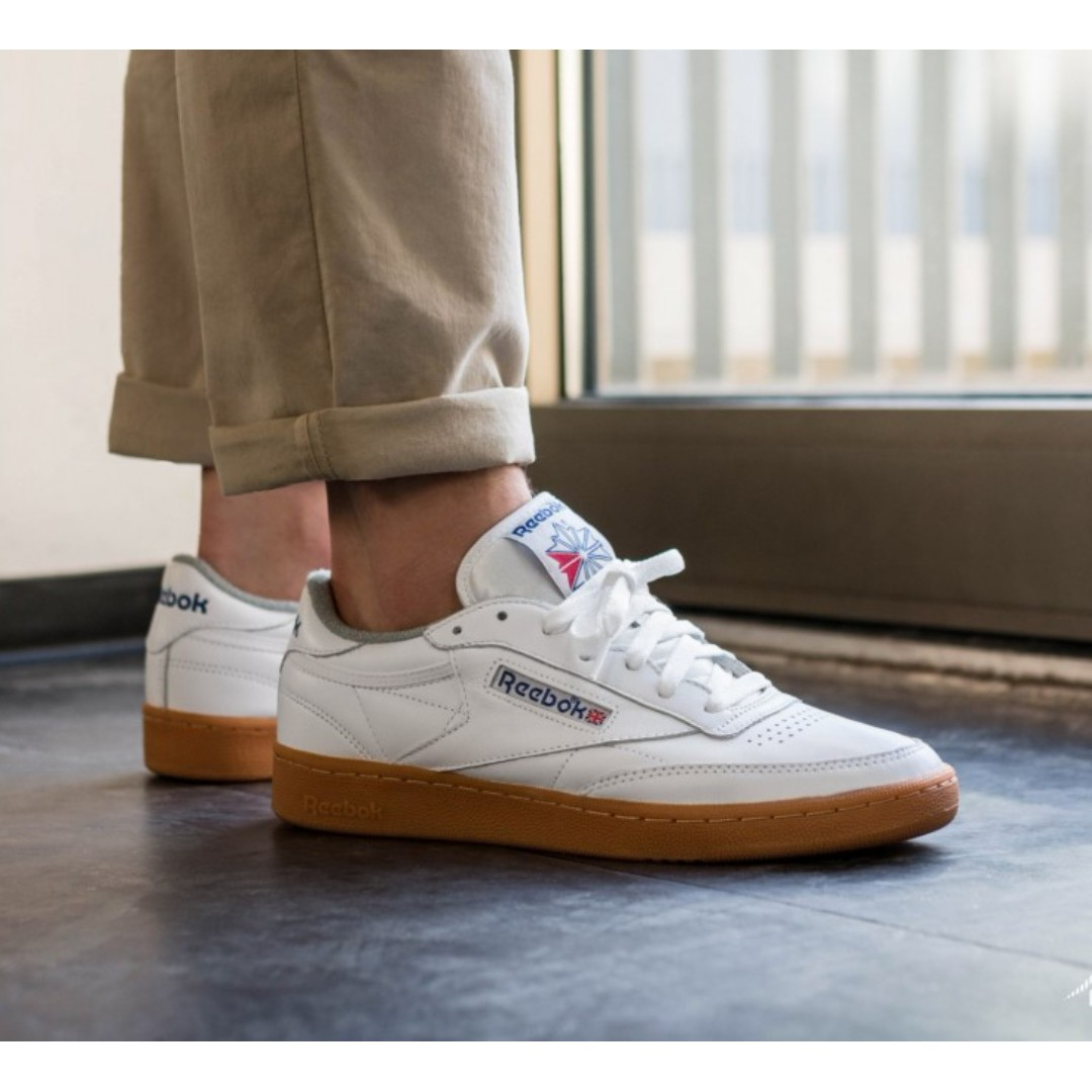 4ca6b71b5ec8 REEBOK CLUB C 85 GUM SHOES – WHITE REEBOK ROYAL FLAT GREY GUM