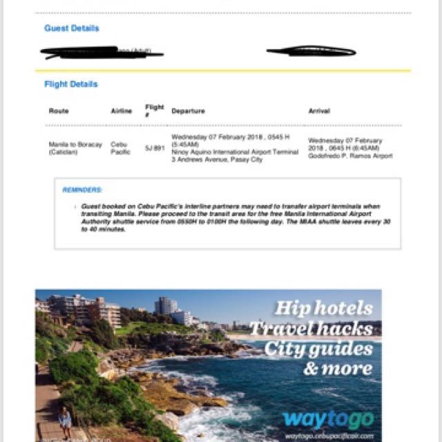 Sale Return Ticket to Bora for 2 Php 3500 for couple 1 Female 1 Male