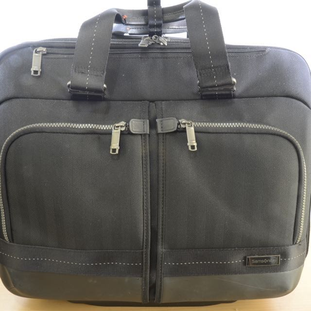 Samsonite Laptop and Overnight Trolley Bag authentic black