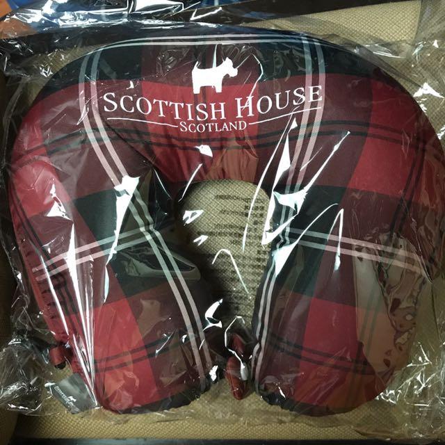 ScottishHouse格紋飛機旅行睡枕頸枕