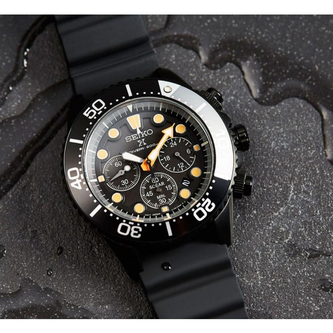6e0ca0dc0cf Seiko Prospex Solar Chronograph Darth Black Series SSC673 SSC673P ...