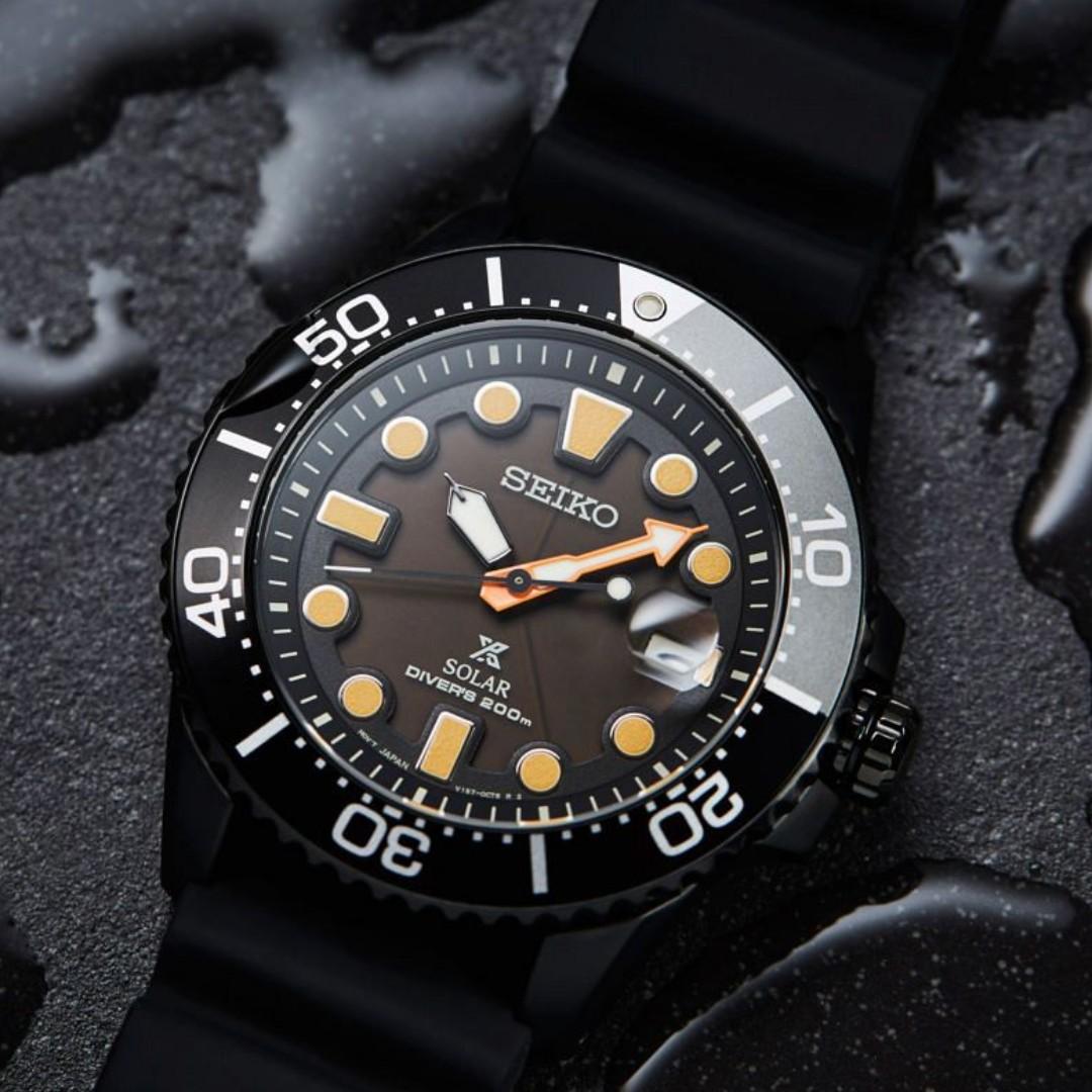 Seiko Prospex Solar Diver Darth Black Series SNE493 SNE493P SNE493P1 200m  Divers Men's Watch *Limited Edition*