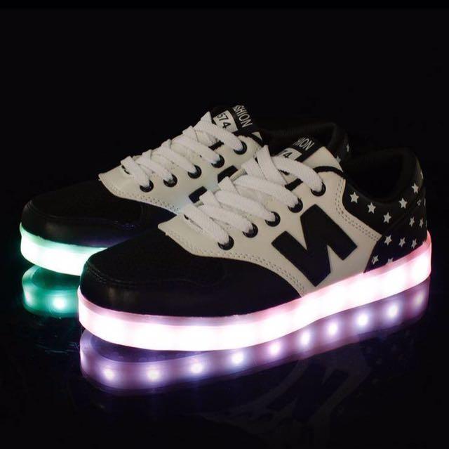 Sepatu LED Dewasa Murah - LED Shoes Charger free Remote - Sneakers LED NB Lucu - Sepatu Lampu Import - Sepatu Nyala