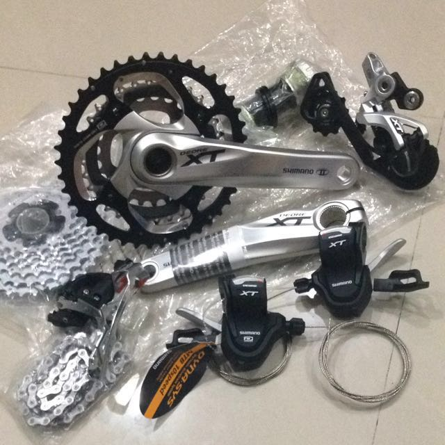 Shimano Deore XT M780/785 10 Speed Groupset, Sports on Carousell