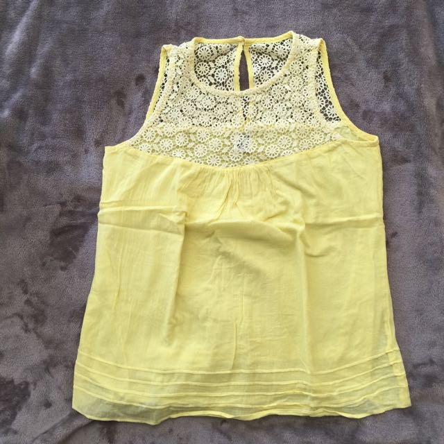 Shop Nita Yellow Sleeveless Top