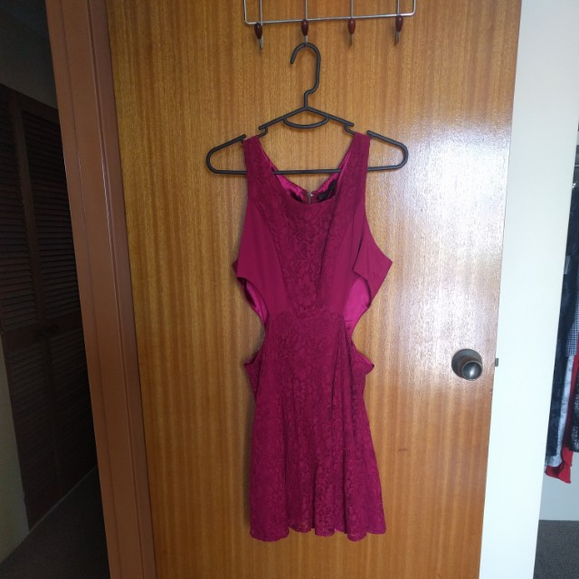 Size 14 Red Cut Out Dress