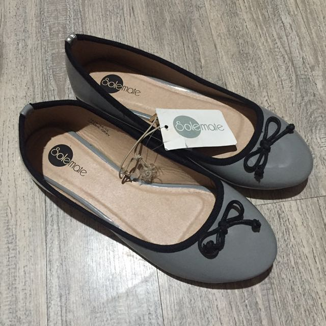 Solemate Doll Shoe Gray