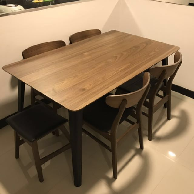 Star Living 6 Seater Dining Table Set, Star Furniture Dining Table