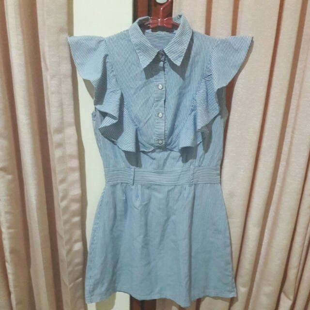 Stripped Blue Dress