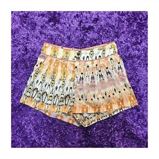 SUPRÉ Aztec Yellow Shorts