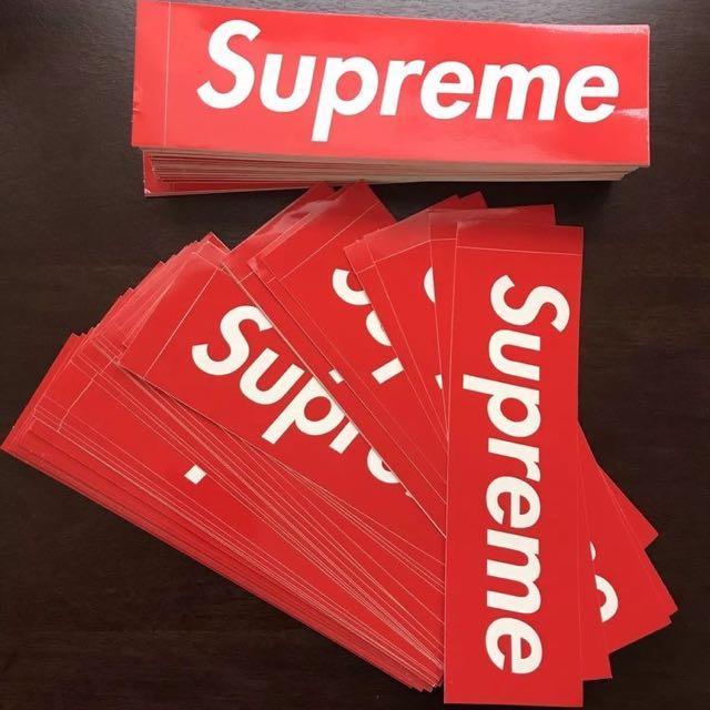 Supreme Box Logo Stickers