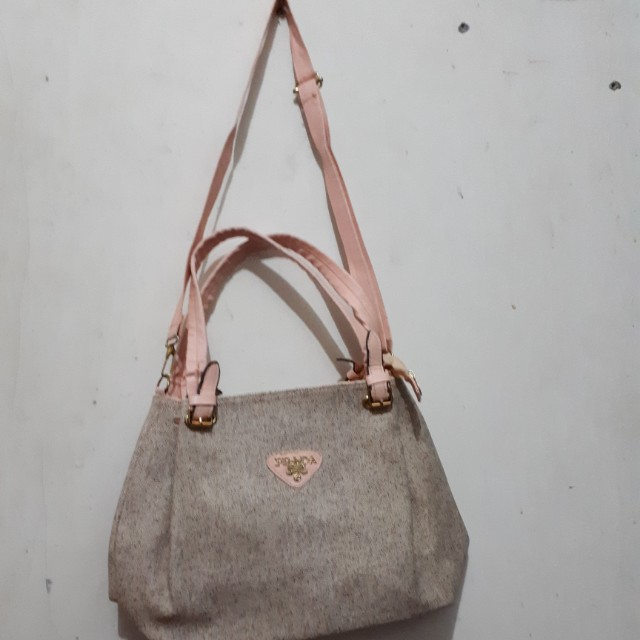 Tas wanita handbag sling bag Prada KW kulit tebal