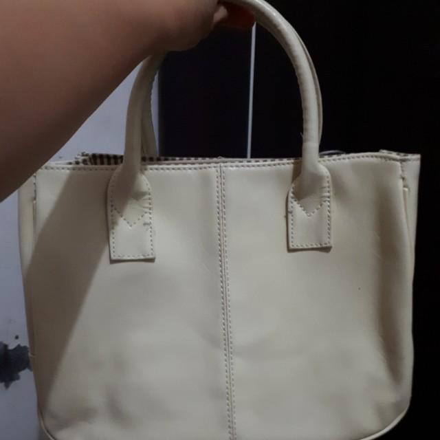 Tas wanita handbag warna cream