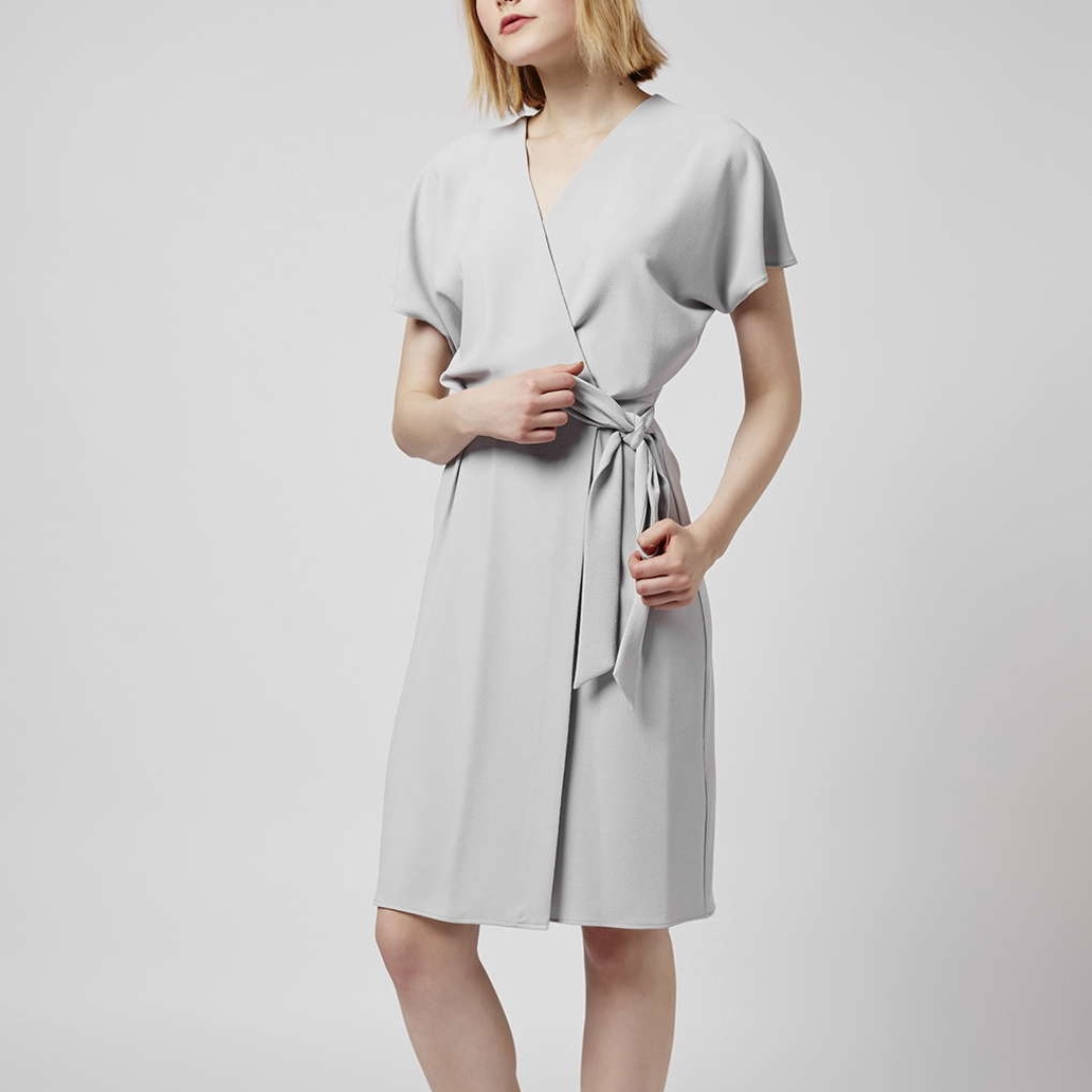 Topshop Crepe Wrap Dress