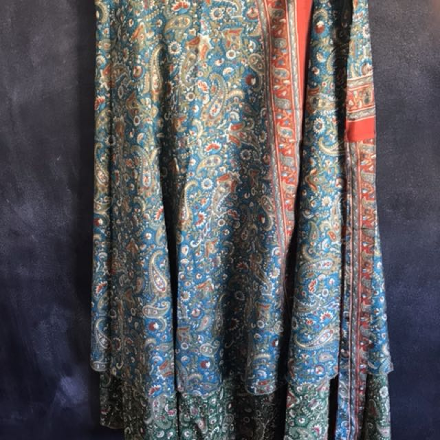 Tree of life wrap skirt