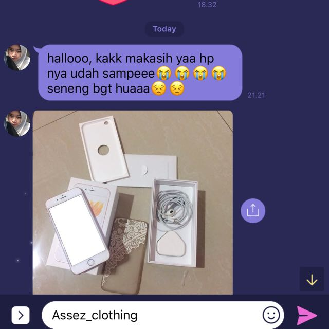 Trusted!! Sold iphone 6S Rose Goldp