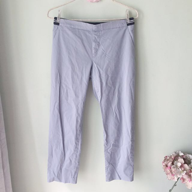 Uniqlo powder blue ankle-length pants