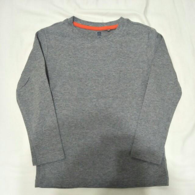 UNIQLO 男童素棉長T恤2件入-110cm