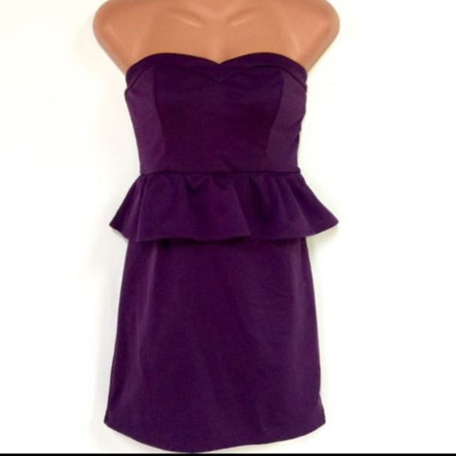 Violet Tube Peplum Dress