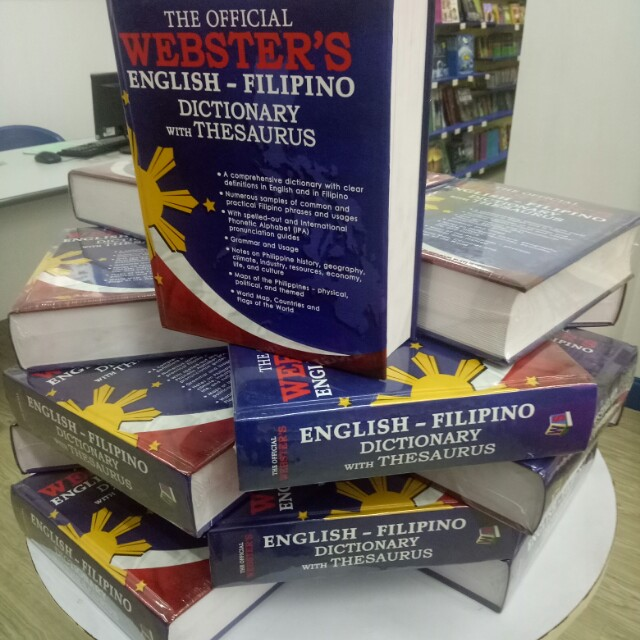 Webster English - Filipino Dictionary with Thesaurus on