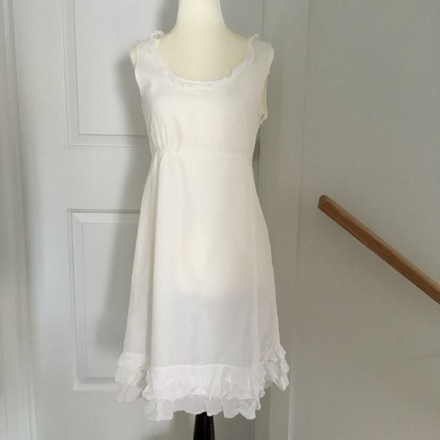 White Esprit Dress