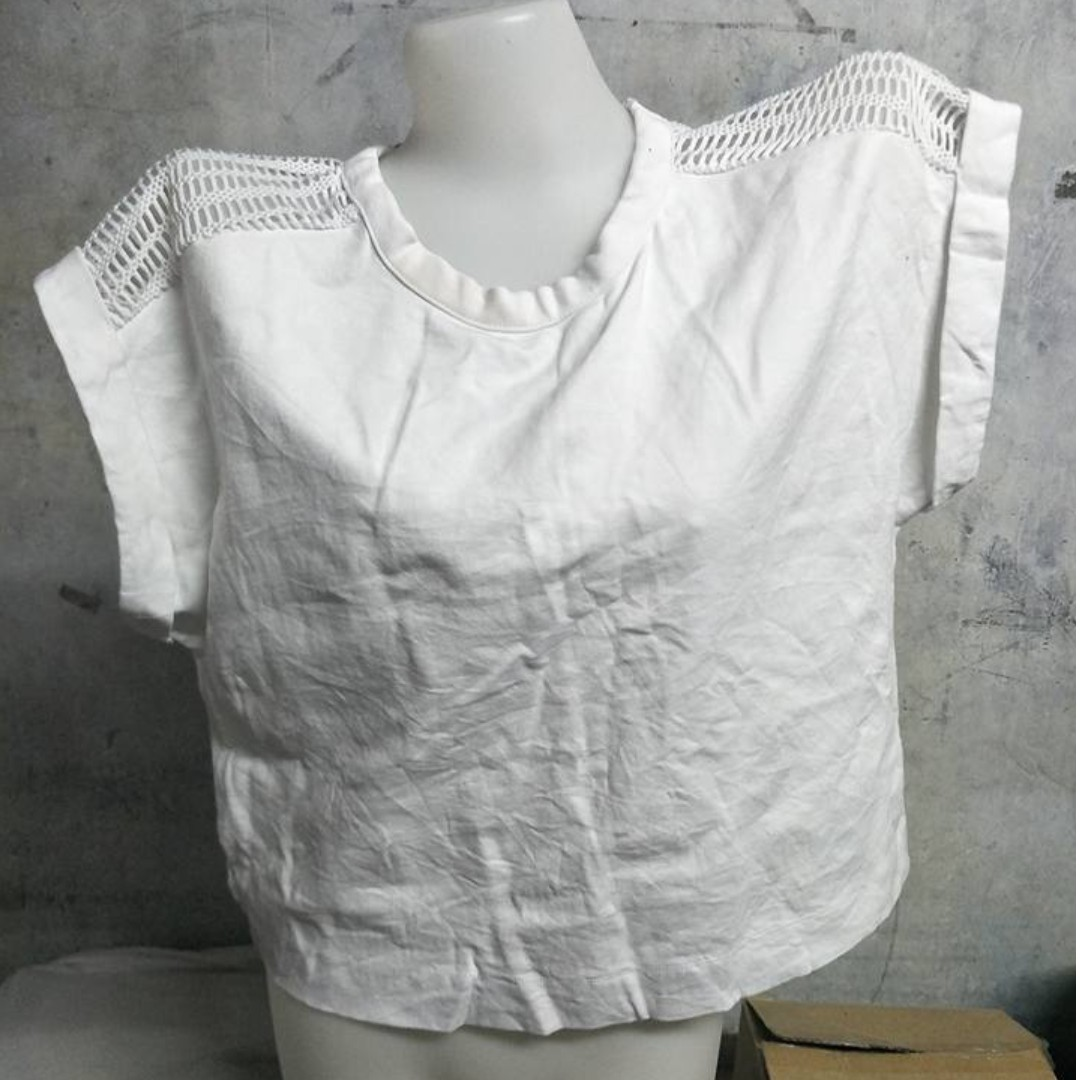 White Knitted Back Top Design