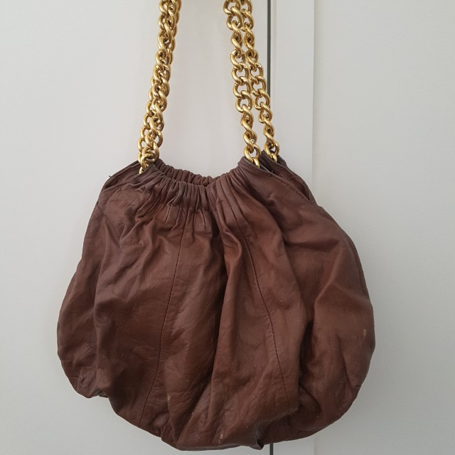 Witchery Brown Leather Bag