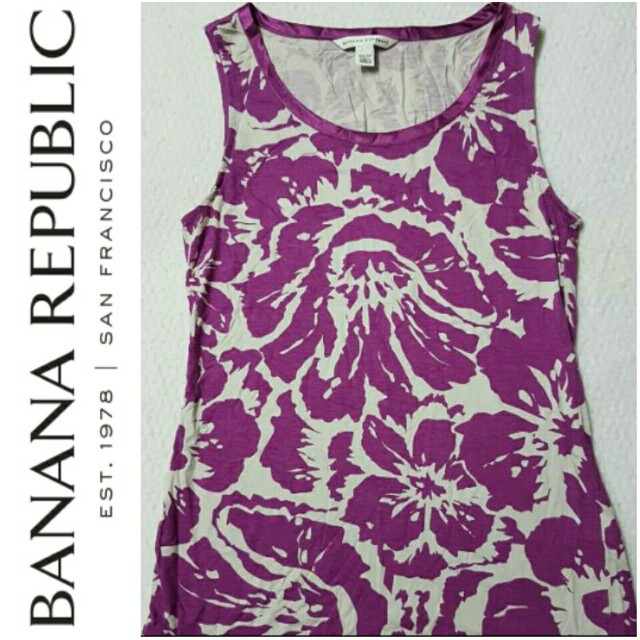 -Yunik- Authentic Banana Republic Floral Printed Sleeveless Top